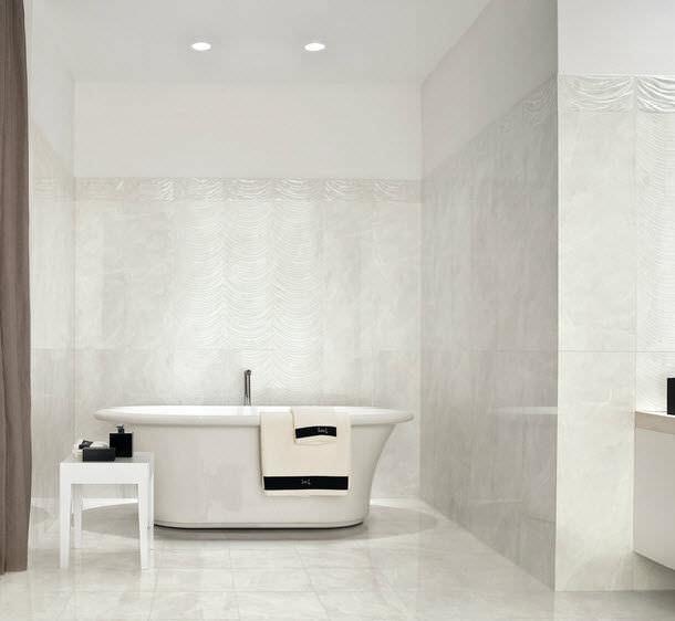 Rivestimento Bagno Grigio E Bianco ~ Trova le Migliori idee per Mobili e Interni di Design