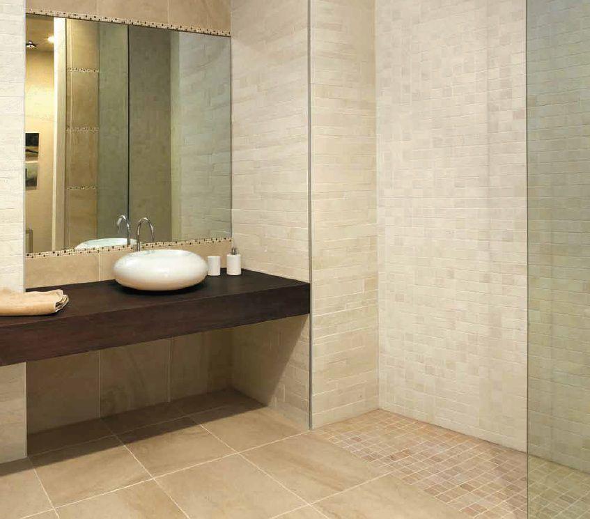 Piastrelle bagno mosaico beige - Piastrelle in mosaico per bagno ...